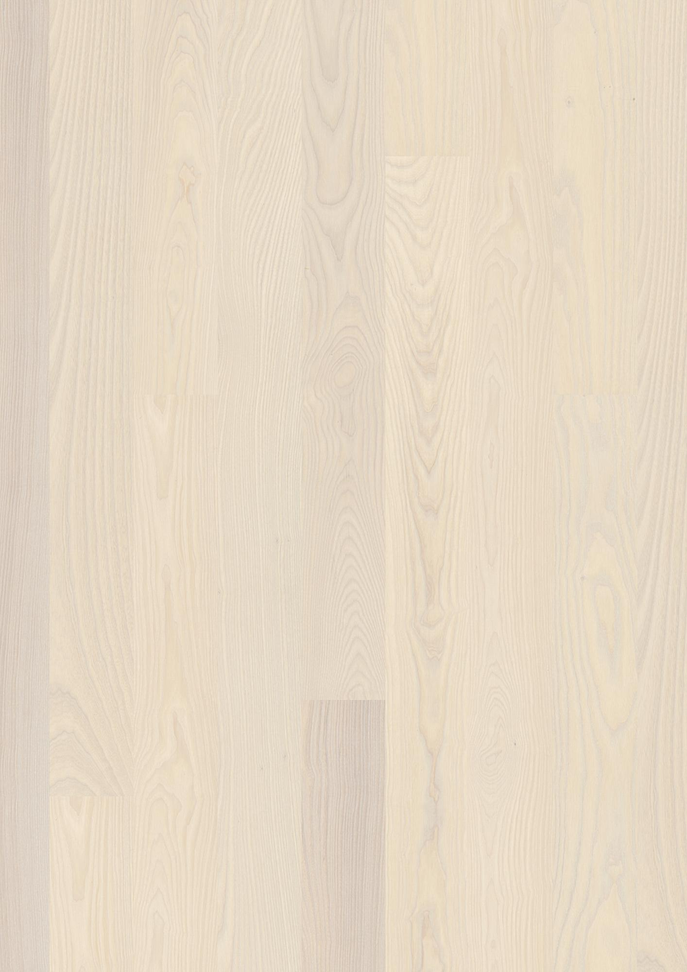 Ash Nature white, Live Pure lacquer white, Brushed, Beveled 2V, Plank 138, 14x139x2200mm