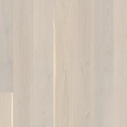 Oak Andante White, Live Pure lacquer white, beveled 2V, brushed, Plank Castle, 14x209x2200mm