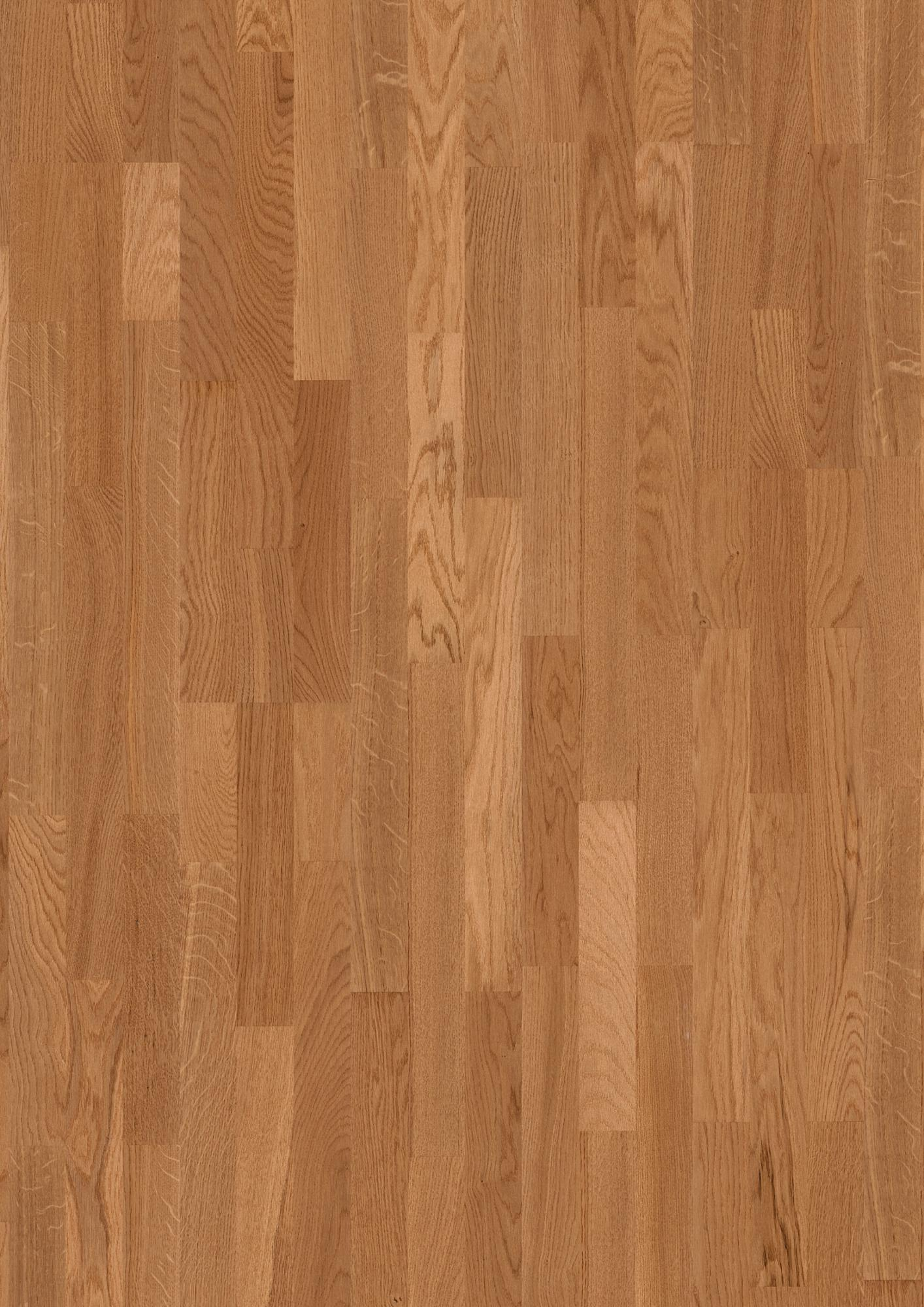 Oak American B, Live Satin lacquer, Unbrushed, Square edged, Longstrip 3-Strip, 33/64x8 15/32x86 39/64inch