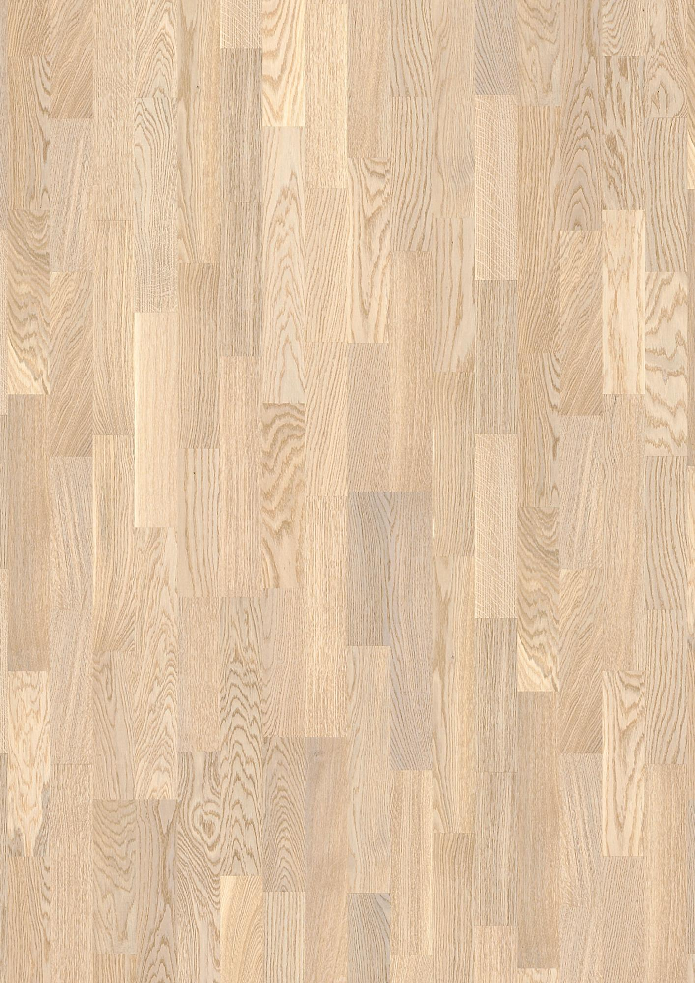 Oak Concerto White Live Matt Lacquer White Unbrushed Square Edged Longstrip 3 Strip 14x215x2200mm