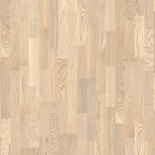 Oak Concerto White, Live Matt lacquer white, Longstrip 3-Strip, 14x215x2200mm