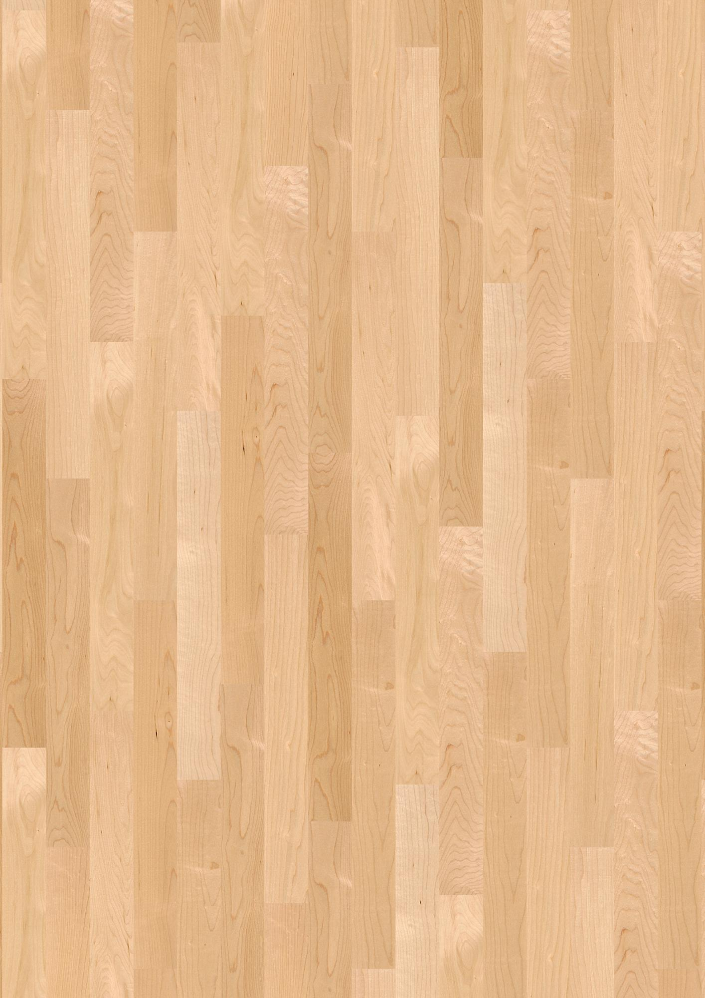 Maple Canadian Nature, Live Satin lacquer, Unbrushed, Square edged, Short strip Prestige, 25/64x2 3/4x23 15/64inch