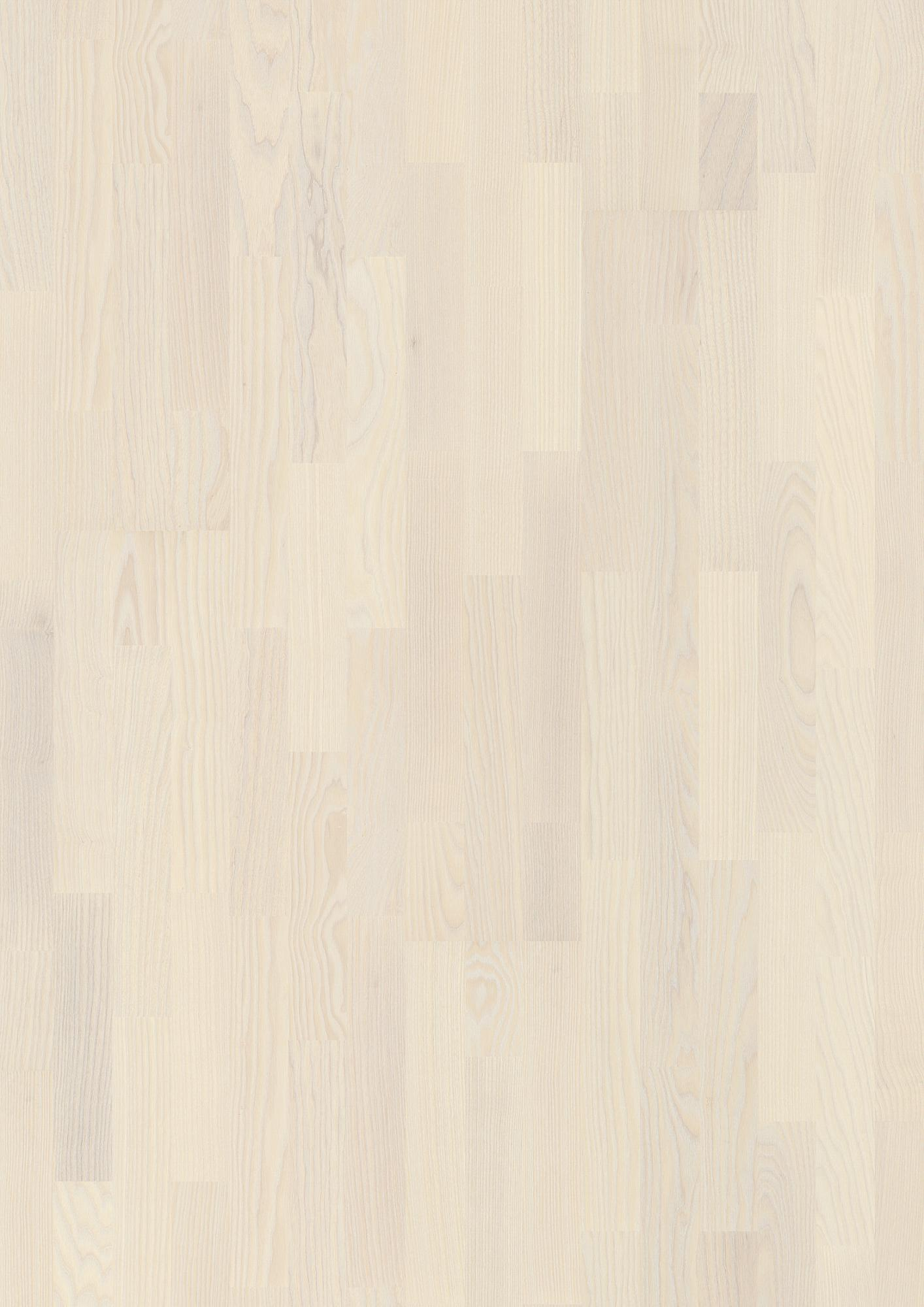 Ash Andante White, Live Pure lacquer white, square edged, brushed, Longstrip 3-Strip, 14x215x2200mm