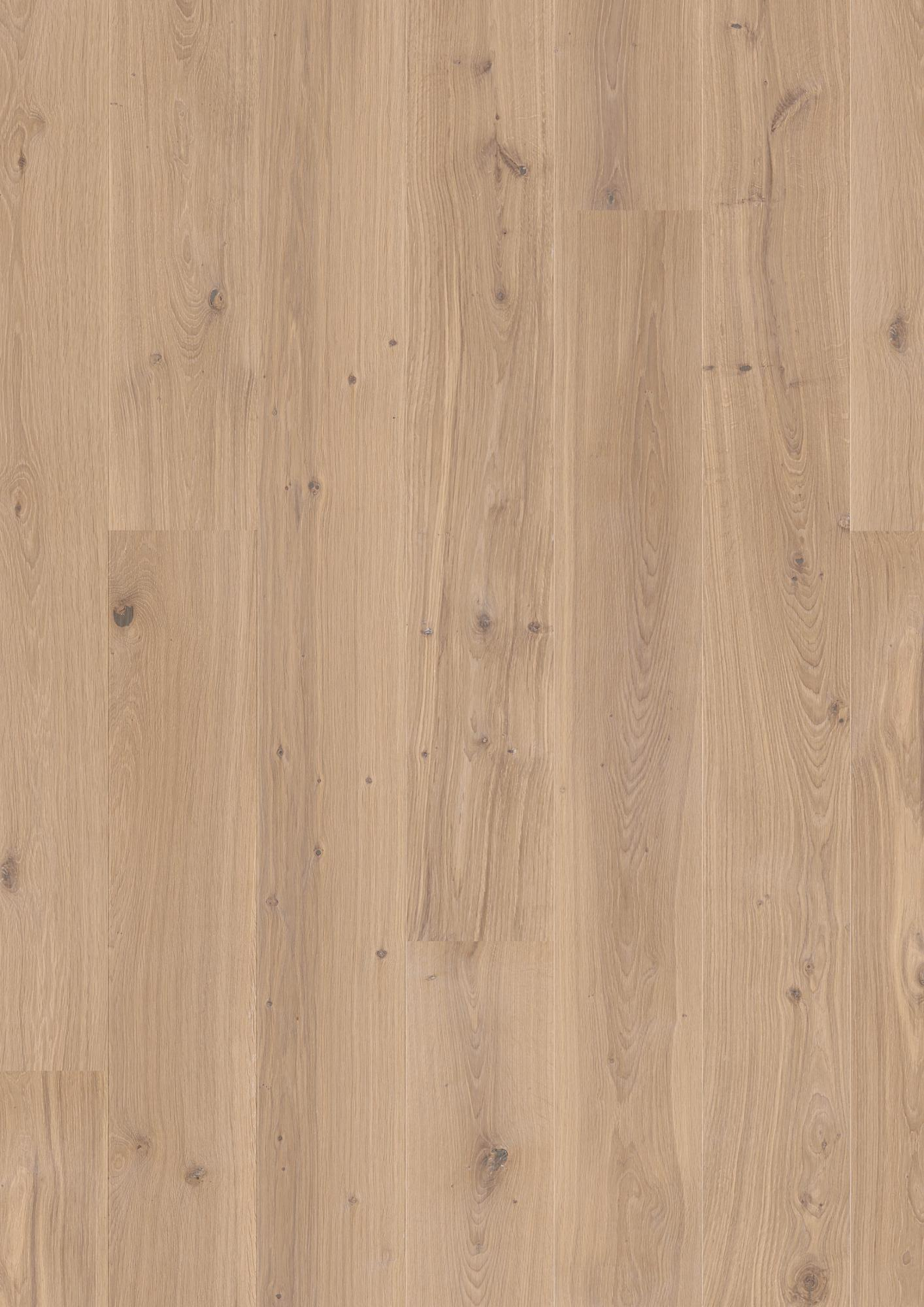 Oak Animoso white, Live Matt lacquer white, Not brushed, Beveled 2V, Plank 181, 14x181x2200mm