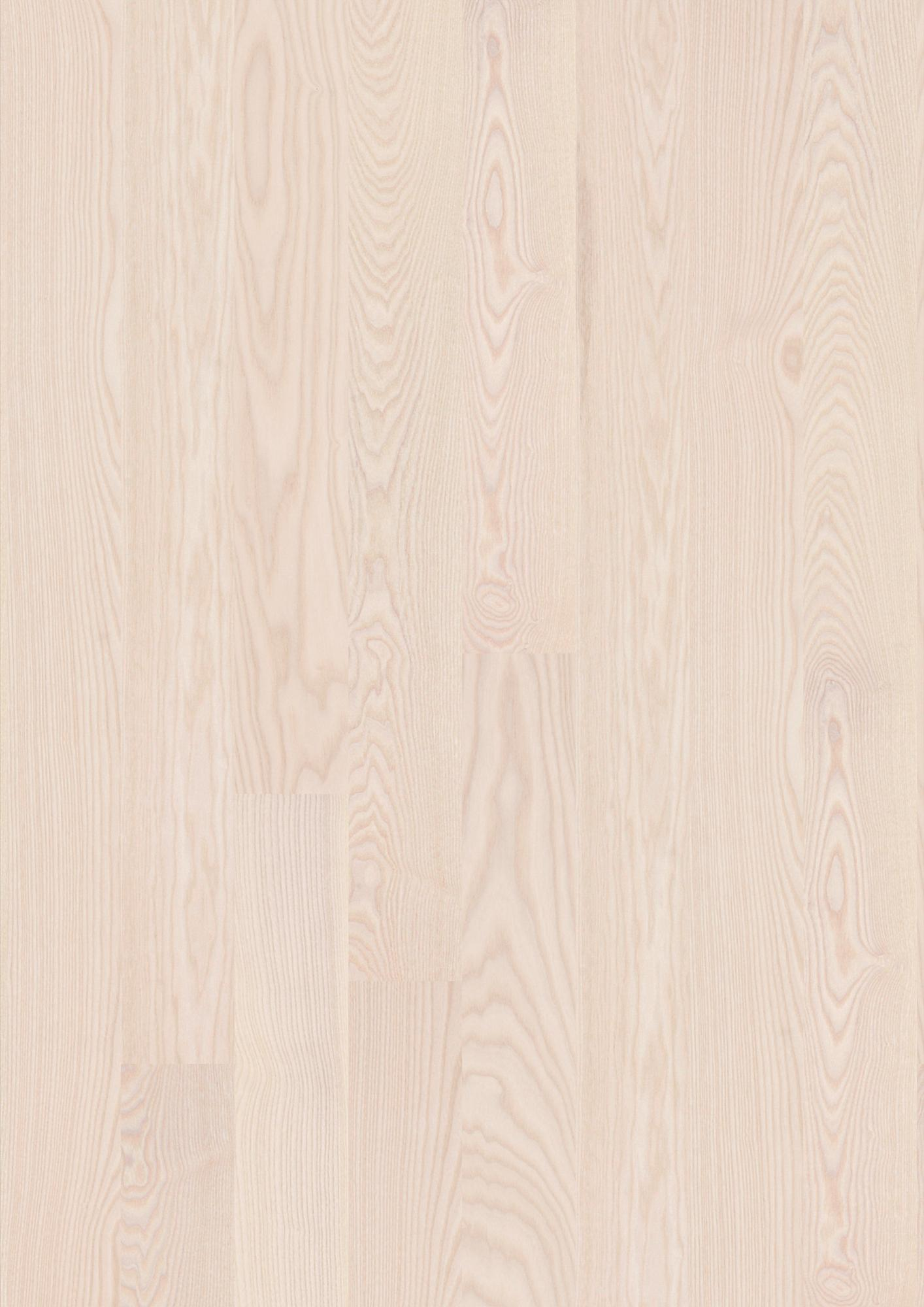 Ash Polar, Live Satin lacquer, Unbrushed, Square edged, Plank 138, 35/64x5 7/16x86 39/64inch
