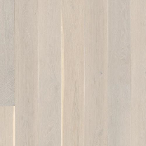 Oak Andante White, Live Pure laquer white, beveled 2V, Brushed, Castle Plank, 14x209x2200mm