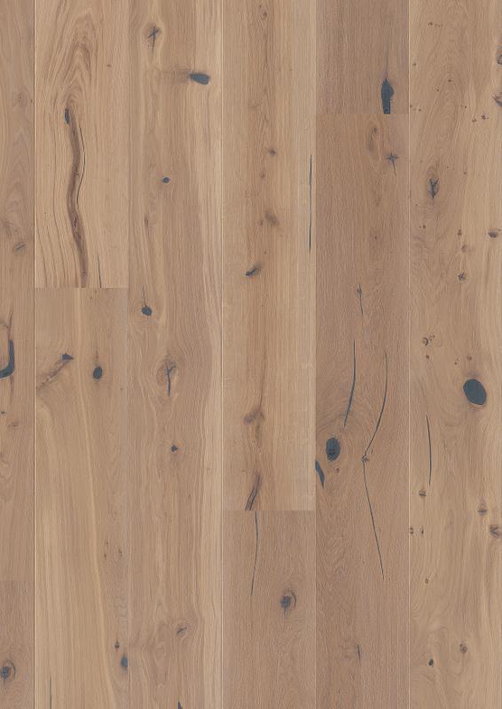 Oak Espressivo White, Live Natural oil white, beveled 2V, brushed, Castle 209, 14x209x2200mm