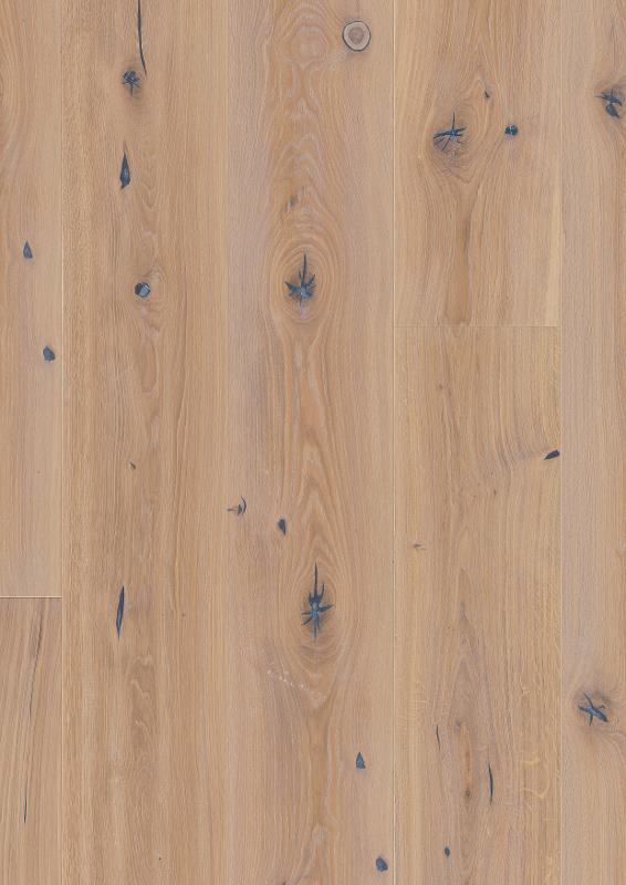 Oak Vintage White, Live Natural oil, beveled 4V, deep brushed, Chalet / Chaletino, 20x0x0mm