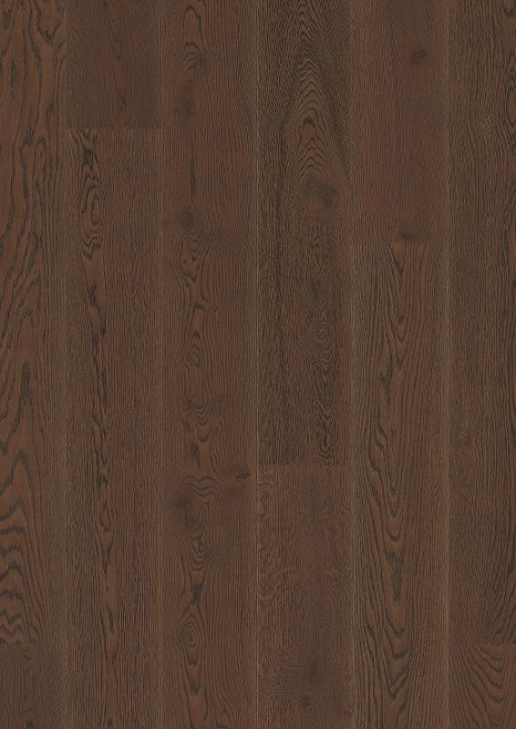 Oak Brazilian Brown, Live Pure lacquer, beveled 2V, brushed, Castle Plank, 14x209x2200mm