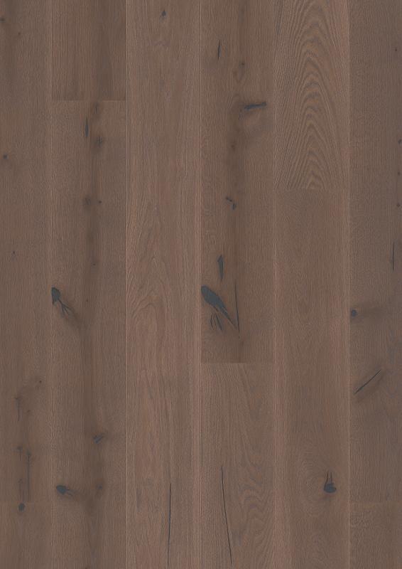 Oak Elephant Grey, Live Pure lacquer, beveled 2V, brushed, Castle Plank, 14x209x2200mm