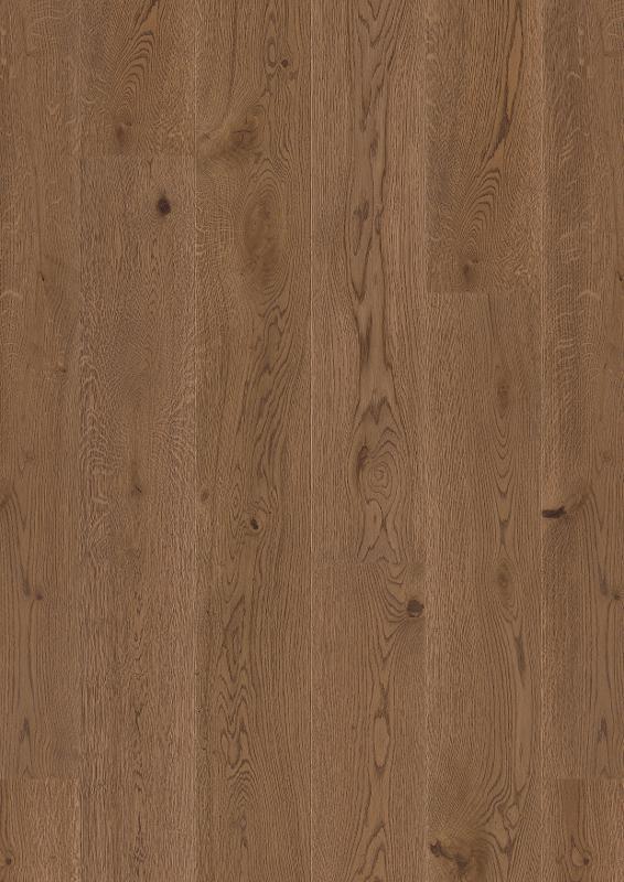 Oak Ginger Brown, Live Pure lacquer, beveled 2V, brushed, Castle Plank, 14x209x2200mm