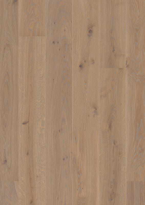 Oak Warm Grey, Live Pure lacquer, beveled 2V, brushed, Castle Plank, 14x209x2200mm