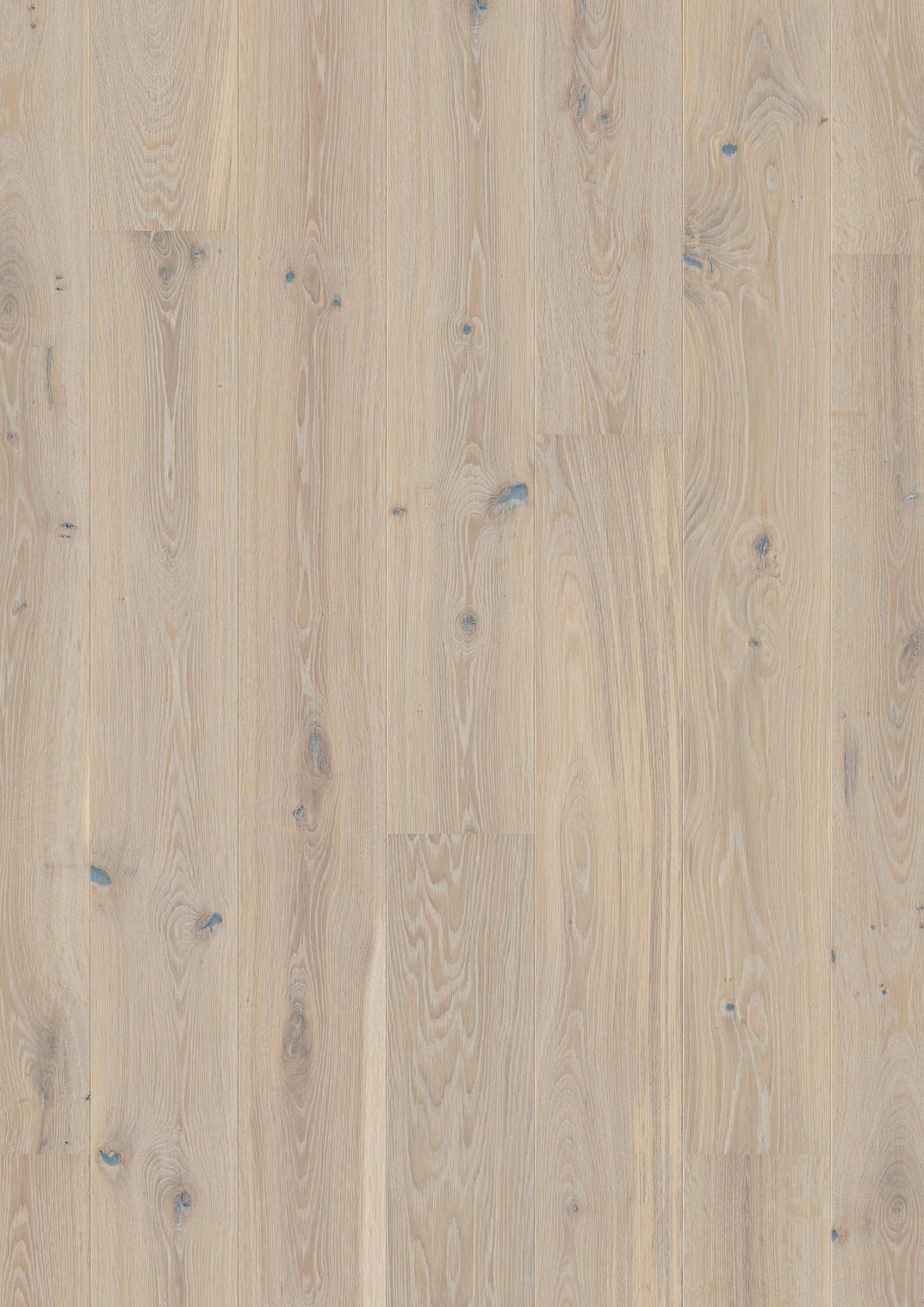 Oak Pale White Vivo, Plank 181, Live Pure lacquer, brushed, beveled 2V, 14x181x2200mm