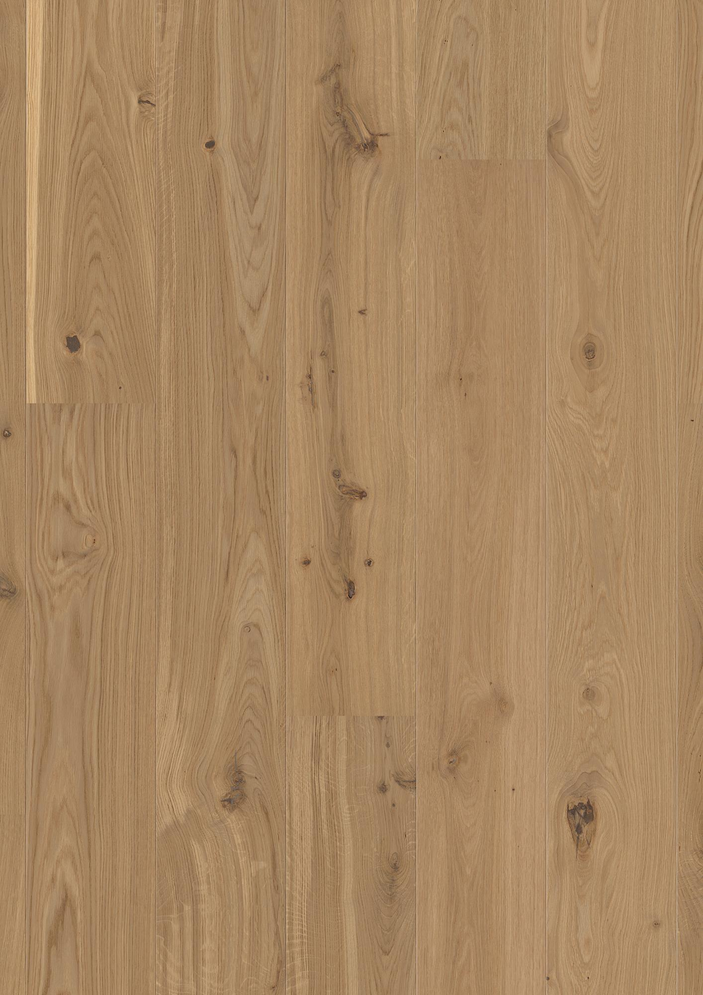 Oak Authentic, Live Natural oil, beveled 2V, brushed, Plank Castle, 14x209x2200mm