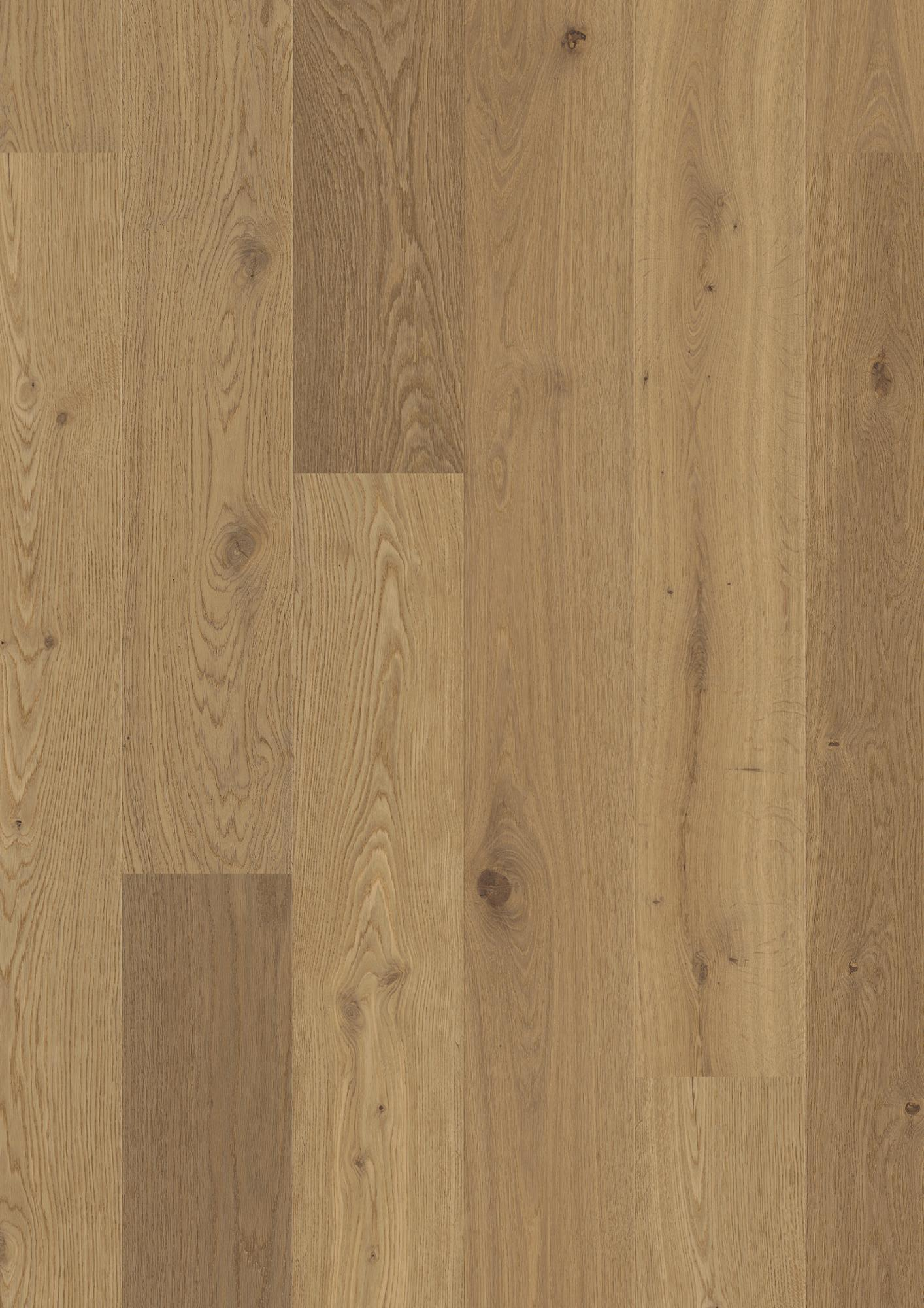 Oak semi smoked, Live Pure lacquer, beveled 2V, brushed, Plank Castle, 14x209x2200mm