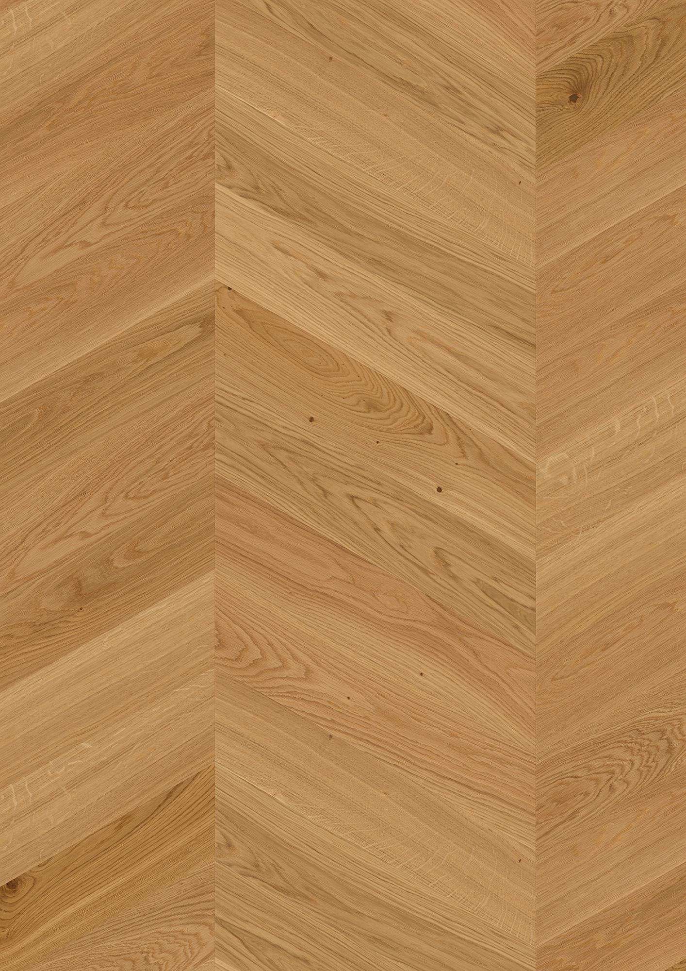 Oak Adagio, Live Natural oil, Brushed, Beveled 4V, Plank Chevron, 14x138x611mm