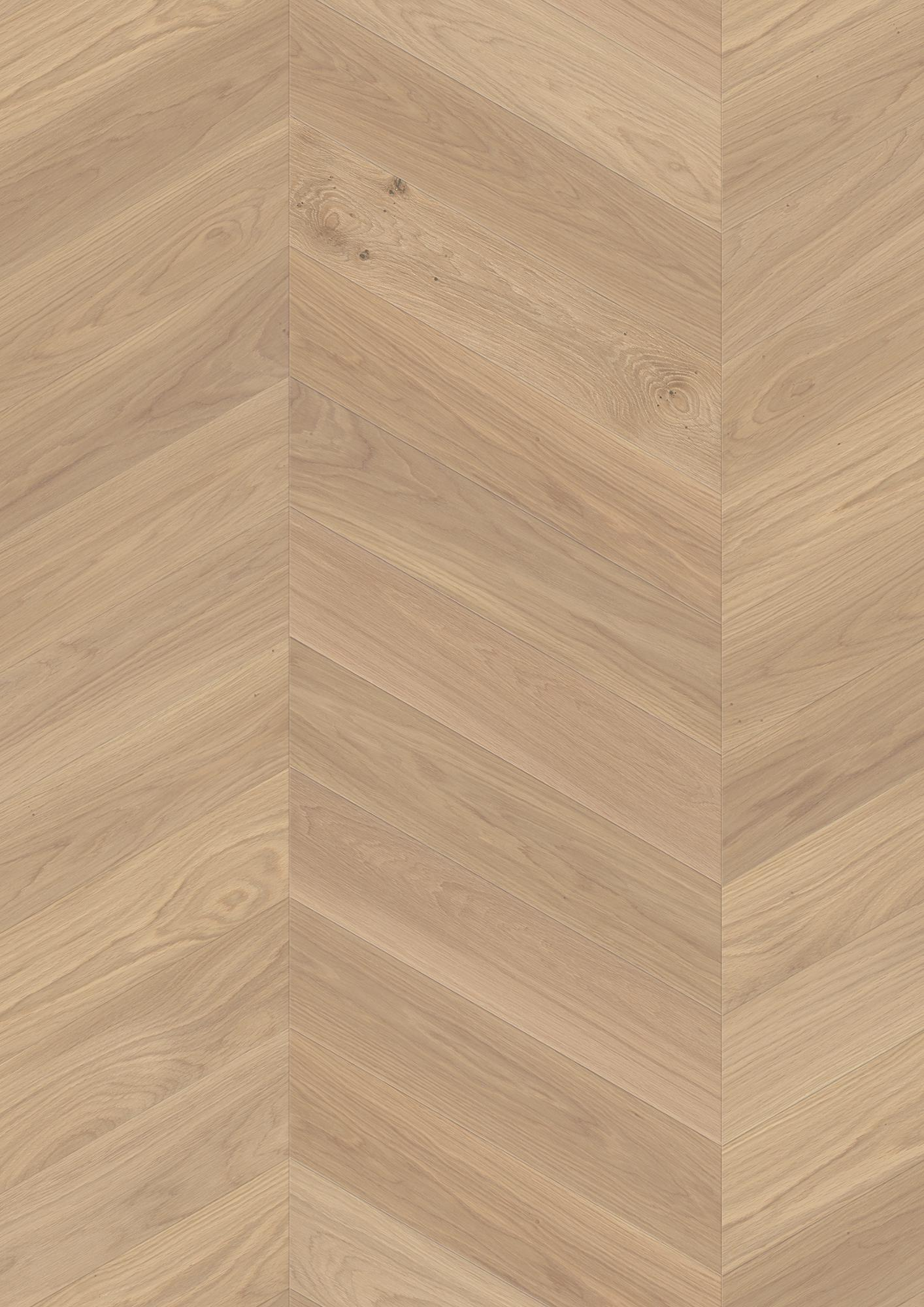 Oak Adagio white, Live Natural oil white, Brushed, Beveled 4V, Plank Chevron, 35/64x5 7/16x24 1/16inch
