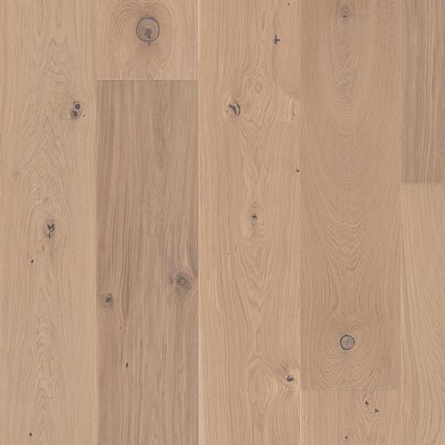 Oak Traditional white, Live Natural oil white, Unbrushed, Beveled 4V, Plank Chaletino, 15x300x2750mm