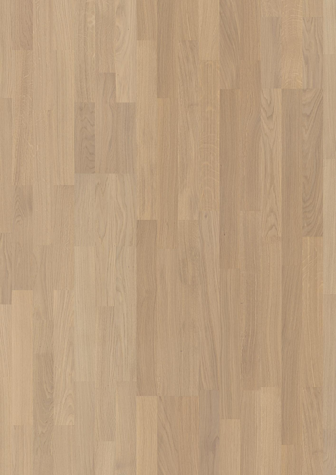 Oak Andante, Live Pure lacquer, Not brushed, Square edged, Longstrip 3-Strip, 14x215x2200mm