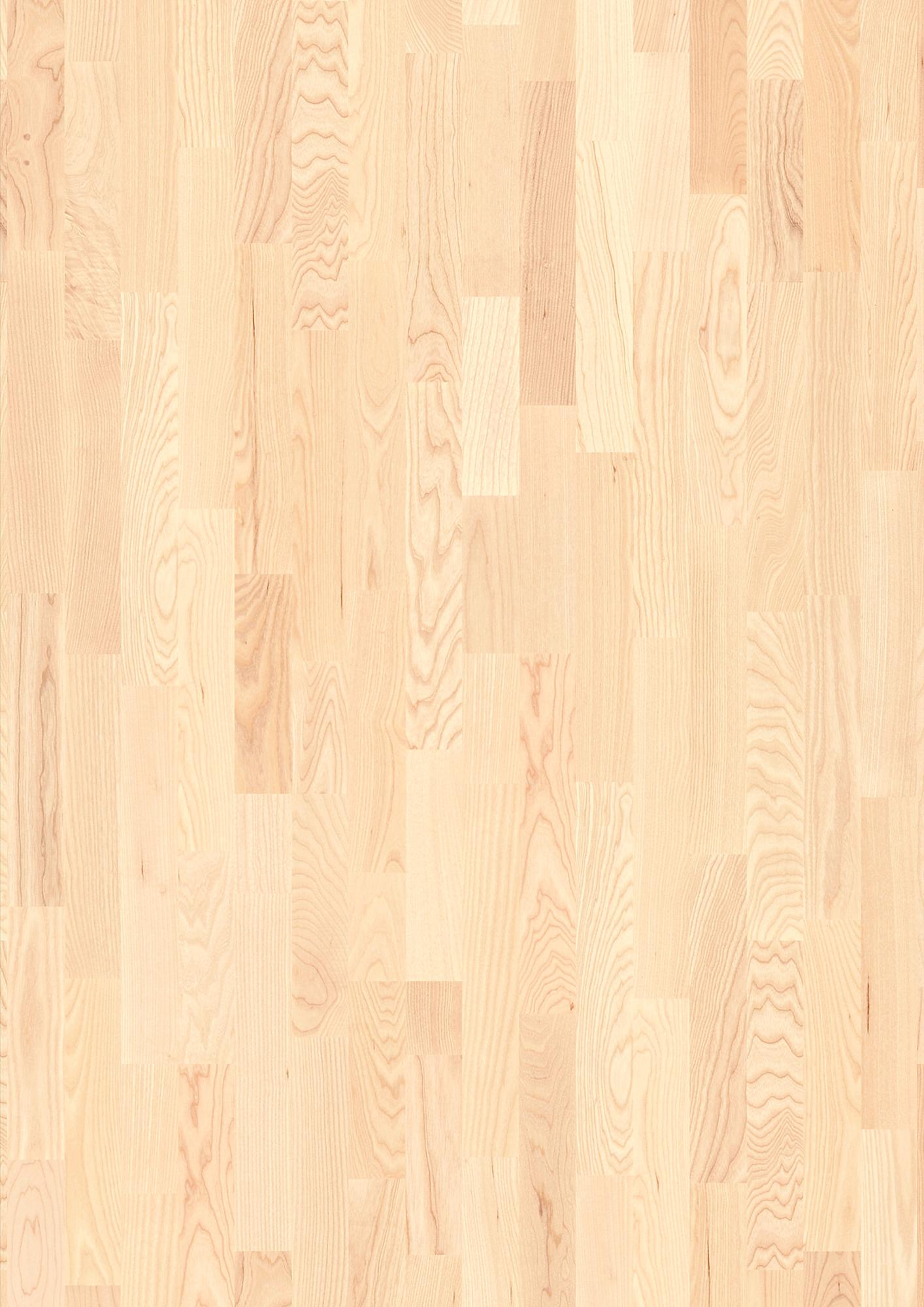Ash Andante white, Live Matt lacquer white, Unbrushed, Square edged, Longstrip 3-Strip, 14x215x2200mm